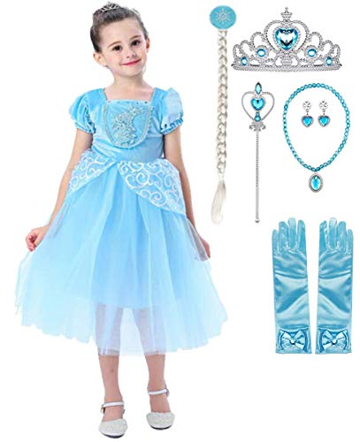 Fanessy Nios Vestido de disfraz de Cenicienta Nias Vestido de princesa Cenicienta Carnaval Cosplay Sin hombros Mariposa Vestido largo de tul Fiesta de cumpleaos de Halloween Vestido de fiesta
