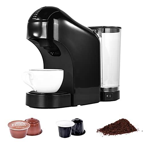 Macchina da Caffè Capsule 3 in 1, Macchina adatta per caffè Nespresso e Dolce Gusto Capsule , Macchine da Caffè Monodose, 0.8L, 7 Levels brewing size, Spegnimento automatic,per uso domestico uffici