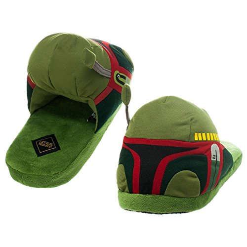 Star Wars Boba Fett Erwachsene Hausschuhe, Grün - grün - Größe: Small