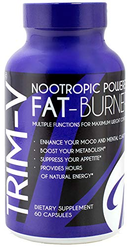 Vanna Belt: Nootropic Fat Burning Supplement - Trim-V - 30 Day Supply - Helps Increase Metabolism, Boosts Energy Levels, and Improves Mental Focus - Assists with Appetite Control