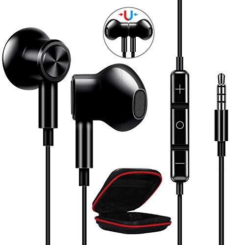 ACOCOBUY Auricolari 3.5 mm Microfono per Samsung A12 Cuffie in-ear con Cancellazione del Rumore Cuffie 3,5mm Auricolari per Samsung A02s A52 A12 A51 A21s A32 Redmi Note 10 Poco X3 Pro NFC P Smart 2021