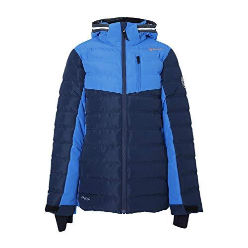 Brunotti ski-jack snowboardjas Sergas JR Boys Snowjacket donkerblauw en grijs winddicht
