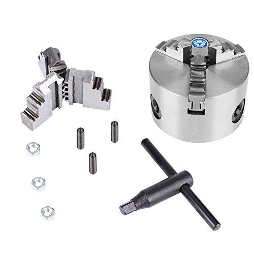 3 Backen Drehfutter,80mm Durchmesser Selbstzentrierendes Metall Drehfutter,Drehmaschine Ersatzteile,Metallfutter Drehmaschinenzubehör