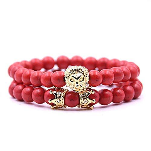 Natuurlijke stenen armband, natuursteen kralen armband, 8 Mm mode yoga energie Lucky armband turkoois gouden steen metaal decoratieve Dumbbell kraal armband gepersonaliseerde kleding accessoires sieraden Gi