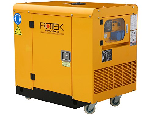 Rotek Schallgedämmter Benzin Stromerzeuger GG4SS-1A-11000-ES (12 kVA / 9,2kW 230V 50Hz 1-phasig)
