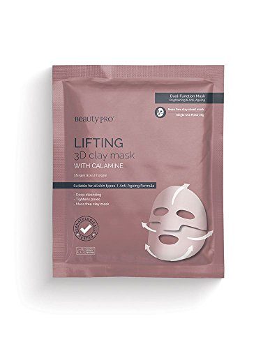 BeautyPro LIFTING 3D Clay Face Mask With Calamine, Anti-Ageing, Mess Free (18g)