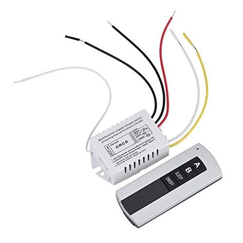 Zerone 180-240V Digital Fernsteuerungsschalter, 1Way / 2Way / 3Way on/Off Drahtloser Fernsteuerungsschalter Empfänger Übermittler für Haushaltsgeräte(2-Way)