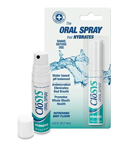 CloSYS Hydrating Oral Breath Spray, 0.25 Fluid Ouce Sprays (Pack of...