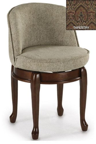 Home Decorators Collection Delmar High Back Swivel Vanity Stool, HIGH Back, Tapestry