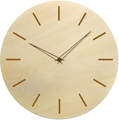 Reloj de pared de decoración grande Simple Moderno Silent Reloj de pared de madera sin mareo con puntero de madera para la sala de estar Cocina Oficina doméstica Decoración de la casa regalo fácil de