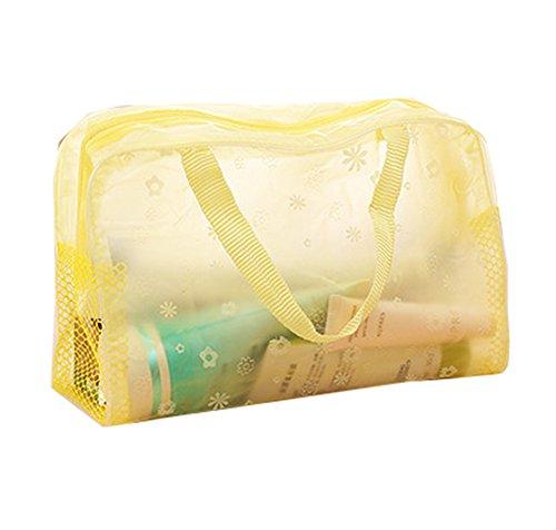 Da.Wa Trousse de toilette étanche transparente avec fermeture éclair pour le maquillage