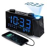 Best Dual Alarm Clocks - WAPASY Projection Alarm Clock, Dual Alarm Clock Review