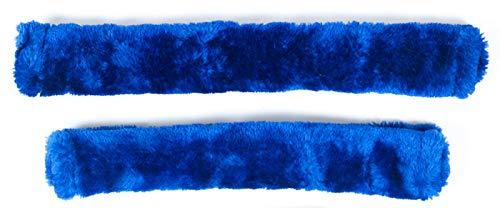 PFIFF 102188 Polster für Halfter und Trense Kunstfell Kunstfellset 26/30cm, Blau