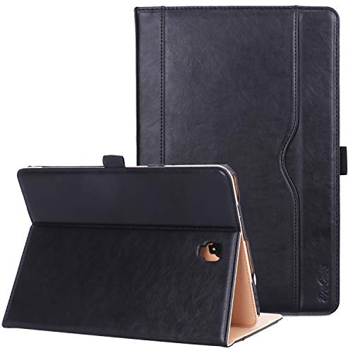 ProCase Samsung Galaxy Tab S4 10.5'' (SM- T830 T835 T837) Folio Stand Case, Premium PU Leather Smart Cover, with Auto Sleep/Wake, Pen Holder Document Card Slots -Black