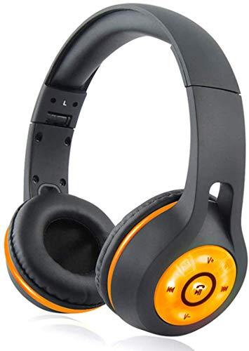 GSUMMER Bluetooth Headphones, Wireless Gaming Headset/Best Stereo Sound Headphones/Folding Illuminated Bluetooth Headset PC Player