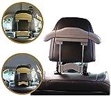 WXCC Erweiterbare Kleidung Auto-Aufhänger, Metall-Kopfstütze Auto-Spielraum-Aufhänger Für Jacken Anzug Kleiderständer Halte Jacken Gerade Und Ordentlich,Grau