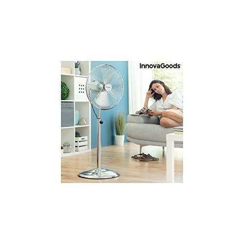 InnovaGoods - Ventilador de Pie Chrome Retro Ø 40 cm 55W