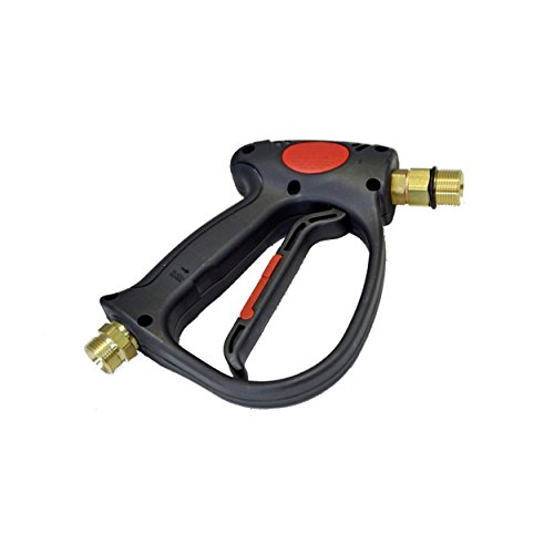 Hogedrukpistool Professional M22 buitenschroefdraad geschikt voor Kärcher Kränzle Kranzle koud water en warm water hogedrukreiniger HD & HDS zoals pistool 4.775-466.0 & 4.775-026.0 by ONE!®.