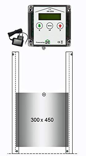 JOSTechnik automatische Hühnerklappe HK2 mit Steckernetzteil Klappe für Entenstall 300x450 mm