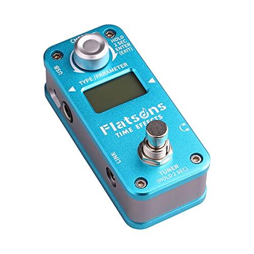 Sharplace Effetti a tempo per pedale per chitarra Ritardo incorporato Reverb Clean Overdrive Distortion Accessori per chitarra multieffetto