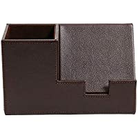 Staples Pencil Cup with Cell Phone Holder, Faux Leather