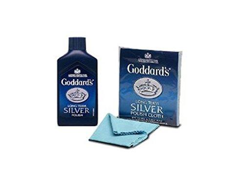 GoddardsPolierset, Langfristiger Silber-/Gold-Glanz, Poliertuch & 125 ml Silberpolitur, Einfache Reinigung, Geeignet zum Polieren von Schmuck