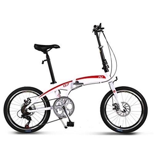 YEARLY Adultos Bicicleta Plegable, Bicicleta Plegable Estudiante Aleación de Aluminio Shimano Velocidad...