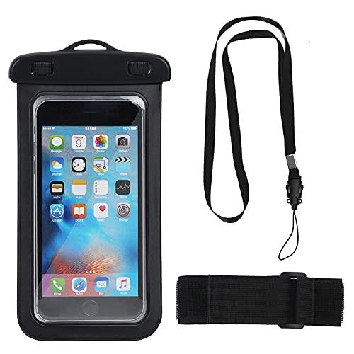 FYY Funda impermeable para teléfono móvil, para iPhone 12 Pro 11 XS Max XR X 8 7 Galaxy S20 Ultra S20+ S10 Plus para deportes acuáticos, playa, natación, navegación.