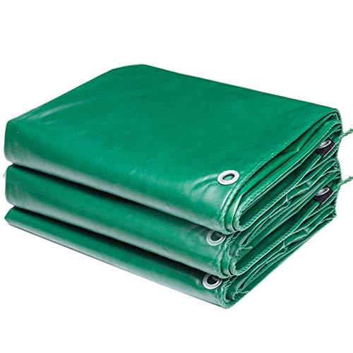 QIANCHENG-tarpaulins Wasserdicht Plane Grundblatt Markisenabdeckungen Zelt Soft Heavy Duty Regensicherer Sonnenschutz Reißfestigkeit Antialterung,12 Größen,500 G/M²,Green-4x6m