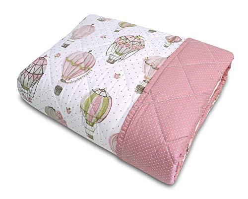 Confezioni Giuliana Trapuntino Primaverile Shabby Rose E Mongolfiere Colore Rosa 1p - 1p E 1/2-2p, Matrimoniale