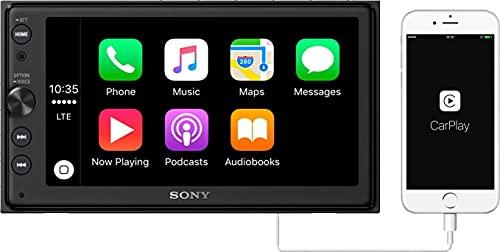 "Sony XAV-AX100 6.4"" Media Receiver w/Bluetooth USB Playback Apple Car Play (Renewed)"