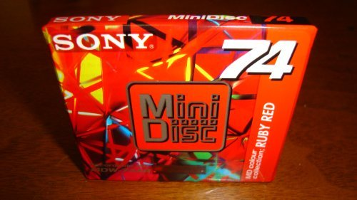 SONY MDW-74AR 74 min Limited MiniDisc Colour Collection - Ruby Red