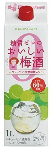 中埜酒造國盛糖質ゼロのおいしい梅酒パック[1000ml]