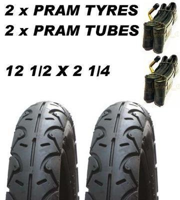 2 x kinderwagen 2 x tubes 12 1/2 X 2 1/4