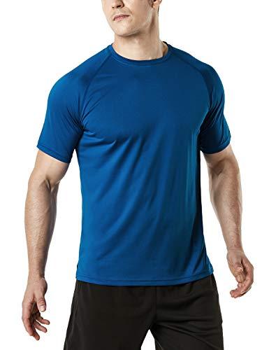 (テスラ)TESLA 半袖 tシャツ 機能性 ドライ クルーネック シャツ [UVカット・吸汗速乾] ランニング トレーニング アウトドア スポーツ メンズ MTS30-TNV_XL