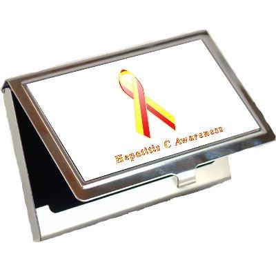 Hepatitis C Awareness Ribbon Business Card Holder