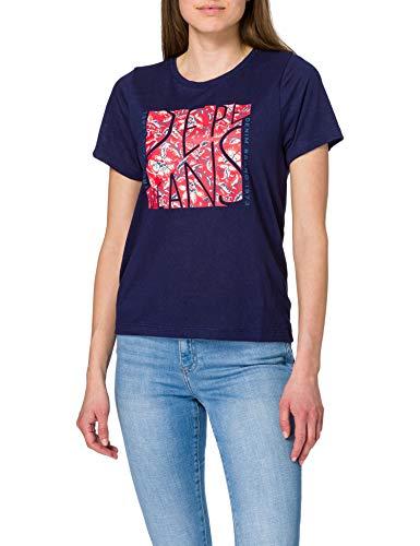 Pepe Jeans Brooklyn Camiseta, 583thames, M para Mujer