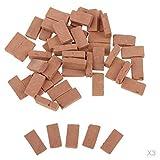 Fenteer 150 Stück 1:16 Scale Ziegel Ziegelsteine Ministeine Bodenfliesen für Modellbau Landschaften