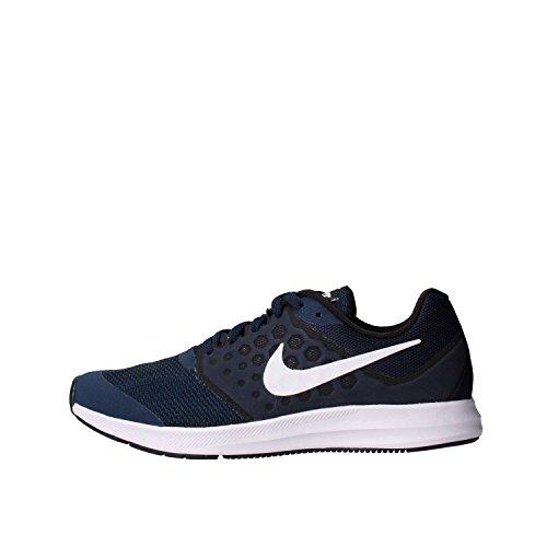 Nike Downshifter 7 (Gs), Scarpe Running Unisex – Bambini, Blu (Midnight Navy/white-dark Obsidian-black), 39 EU