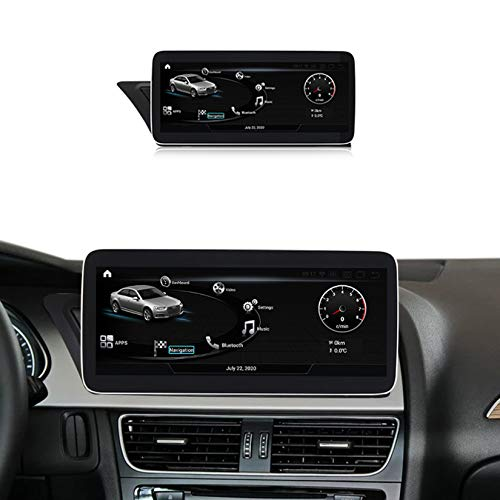 Android Autoradio Pantalla Tactil para Coche Built-In Wireless Carplay 10.25/12.5 Pulgadas Táctil GPS Navegación Car Audio Player Radio para Audi A4L B8 A5 2009-2017,MMI 3g,N600