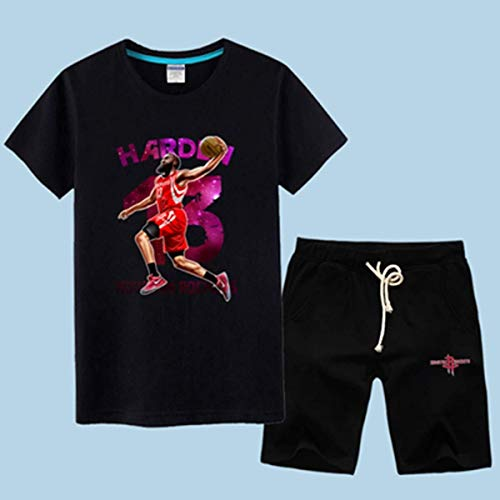 LLSDLS Camiseta de Baloncesto de la NBA Hombre Conjunto de Manga Corta Houston Rockets James Harden/Chris Paul Camiseta Deportiva Conjunto de Ropa de Entrenamiento Camiseta