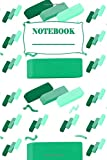 Notebook: Wide Blank Lined Workbook for Teens Kids Students Girls  for Home School College ... Notes( Erasers Pattern Cover )