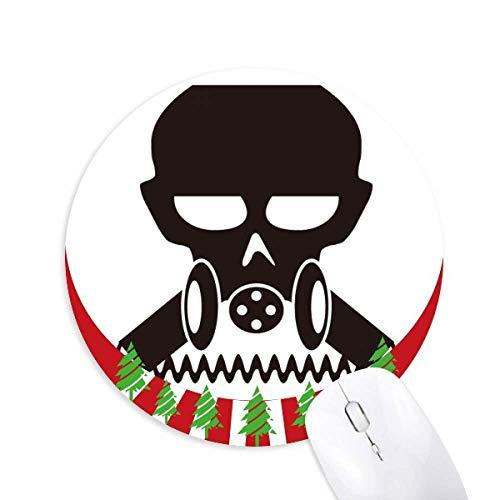 Verschmutzung Biochemische Cyborg Gasmaske Rund Gummi Maus Pad Weihnachtsdekoration