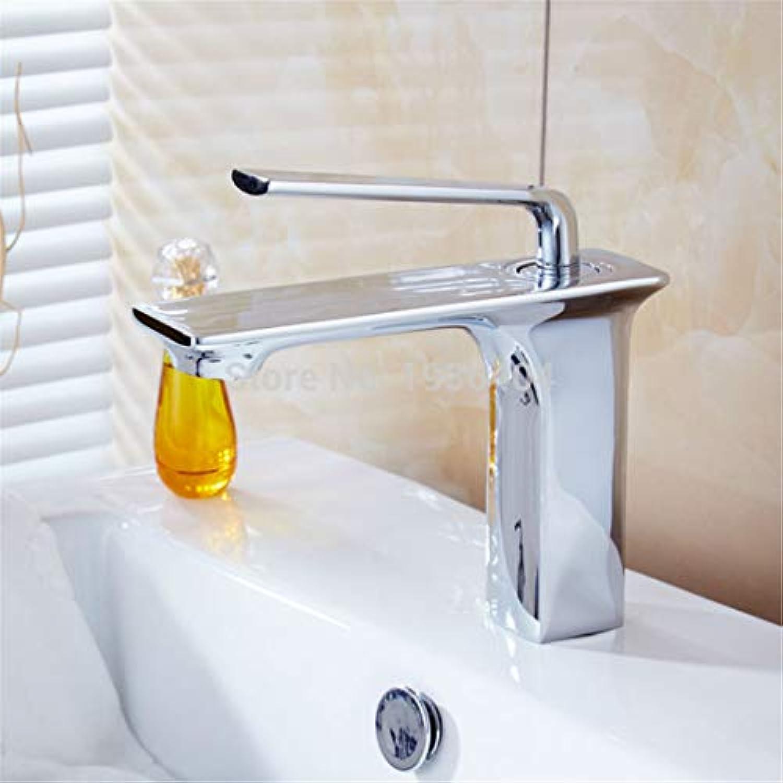 Retro Plattiert Hei Und Kalt Wasserhahn Wasserhahnmoderne Note Auf Einzigen Handgriff-Chrom-Badezimmer-Wannenhahn-Becken-Mischer