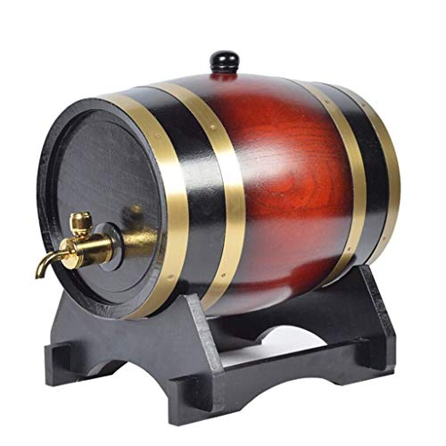 Decantador De Whisky Decantador De Licor Cristal Barril de Roble, Roble 20L Cosecha de Entre almacenaje del Vino Cubo con Grifo dispensador del Agua del Vino Tinto, Vino Tinto (Size : 20l)