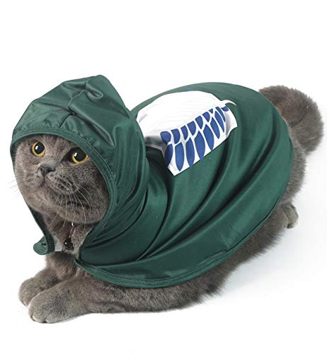 Coomour Cat Costume Funny Pet Clothes Cute Anime Small Dog Scout Soldiers Apprarel Outfits Puppy Cosplay Cape Party Clothing (M)