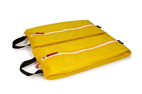 kiezels - sacchetto per scarpe / organizer per valigia o zaino - misure L ( 45) - giallo