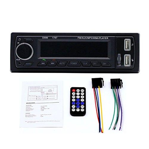 FHJZXDGHNXFGH Car Auto MP3 USB AUX Player Soporte de Carga USB Dual Radio Función de Tarjeta de Memoria Digital Segura