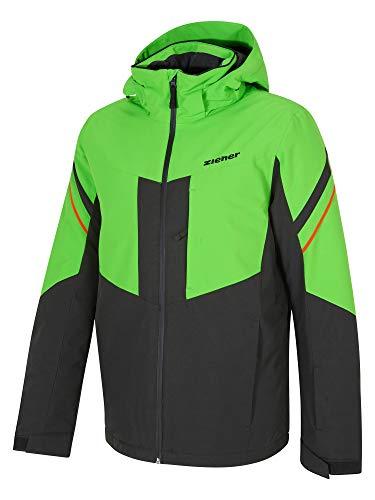 Ziener Herren POMOKA Ski Snowboard-Jacke, Black, 52 (L)