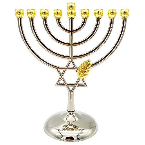 Illuminia Hanukkah Menorah 9 Branches Hanukkah Decorations